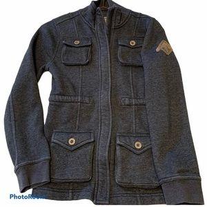 Beaver Canoe zip Jacket Girls Size Large gray